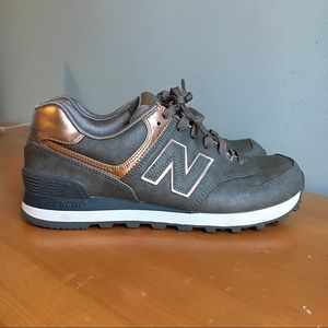 New Balance 574 Rose Gold Metallic
